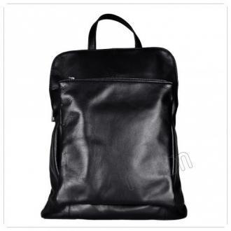 Duży plecak czarny skórzany-a4 skóra cielęca najwyższej jakości
