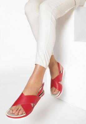 Czerwone Sandały Walk Off