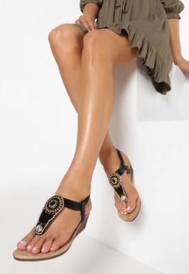 Czarne Sandały Something Familiar