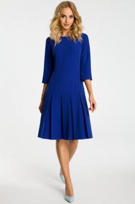 FABIENNE Sukienka z obniżoną talią i kontrafałdami - chabrowa - Zdjęcie 1