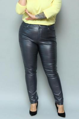 Spodnie woskowane ELŻBIETA rurki grafitowe