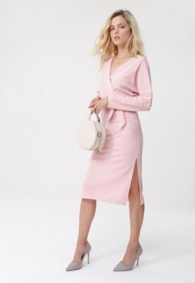 Różowa Sukienka Clement - Zdjęcie 2