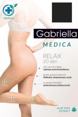 Gabriella Medica Relax 20 DEN Code 110 Rajstopy klasyczne - nero