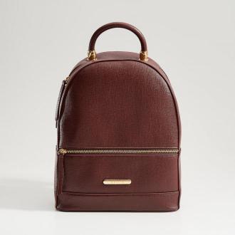 Mohito - Elegancki plecak z uchwytem - Bordowy