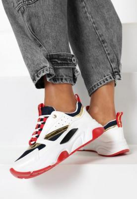 Biało-Granatowe Sneakersy Norman