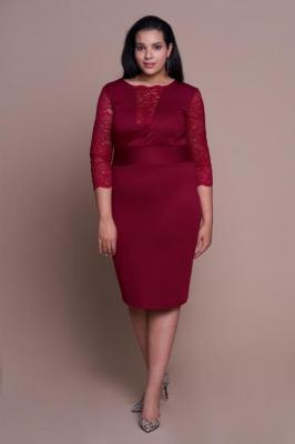 MEGAN WINE seksowna sukienka plus size z koronką : Rozmiar - 60/62 - Zdjęcie 1