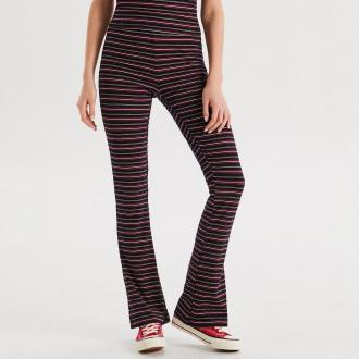 Cropp - Dzianinowe spodnie dzwony - Granatowy