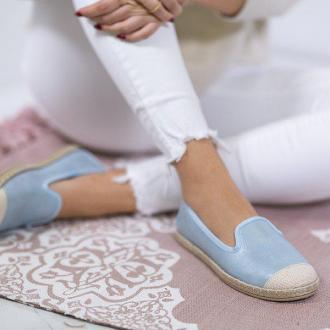 Niebieskie espadryle ze skóry ekologicznej Serenah - Obuwie