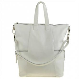 Torebko-plecak biały vezze