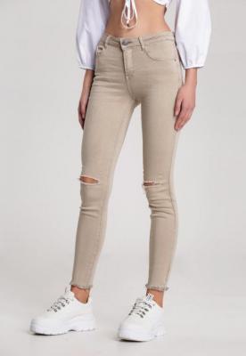 Beżowe Spodnie Screeching