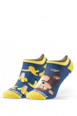 Sesto Senso Finest Cotton Women Skarpety stopki - banan/małpka