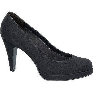 Czarne szpilki damskie Graceland z imitacji skóry zamszowej