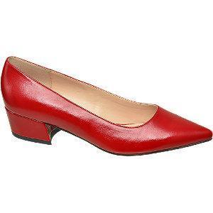 Niskie czółenka damskie Graceland w kolorze czerwonym