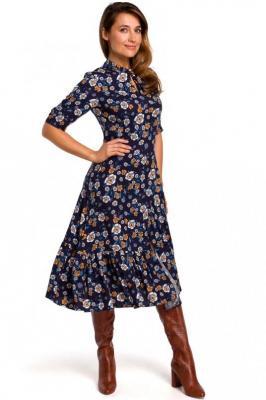 Rozkloszowana Sukienka z Dopasowaną Górą Model 2 - Zdjęcie 1