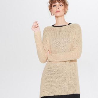 Mohito - Lekki sweter z wełną - Beżowy