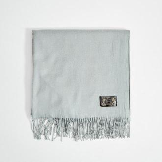 Mohito - Gładki szalik z wiskozą - Jasny szary