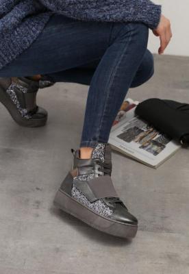 Ciemnosrebrne Sneakersy Xevera