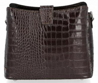 Eleganckie Torebki Skórzane Listonoszki firmy Vittoria Gotti w motyw aligatora Czekolada (kolory) - Zdjęcie 1