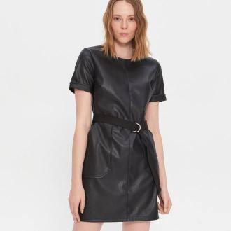 House - Sukienka z imitacji skóry - Czarny