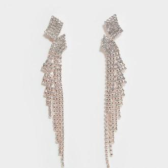 Mohito - Długie kolczyki z kryształkami - Wielobarwny