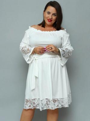 Sukienka na komunie hiszpanka TONIA gumeczka i gipiura ecru