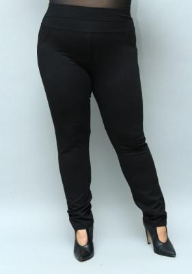 Spodnie rurki dzianinowe czarne proste guma w pasie