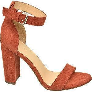 Pomarańczowe sandały Graceland na słupku