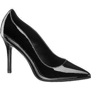 Lakierowane szpilki damskie Graceland w kolorze czarnym