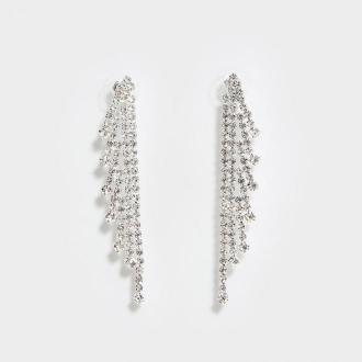 Mohito - Długie kolczyki z kryształkami - Srebrny