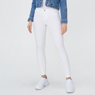 Sinsay - Jeansowe jegginsy skinny - Biały