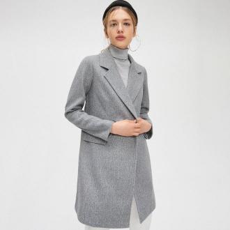 Cropp - Płaszcz dwurzędowy - Jasny szary