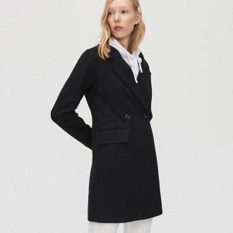 Cropp - Płaszcz dwurzędowy - Czarny