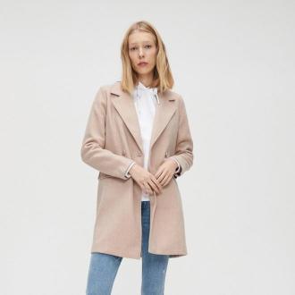 Cropp - Płaszcz dwurzędowy - Beżowy