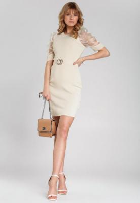 Jasnobeżowa Sukienka Aguilar