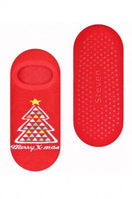 Steven 132-17 Skarpety stopki - czerwony