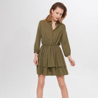 Mohito - Sukienka z lyocellu Tencel™ Eco Aware - Khaki