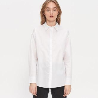 House - Gładka koszula oversize - Biały
