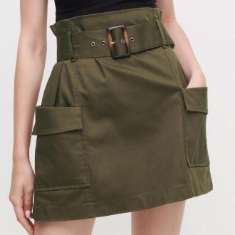 Reserved - Mini spódnica cargo - Khaki