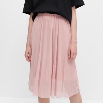 Reserved - Spódnica z drobnym plisowaniem - Różowy