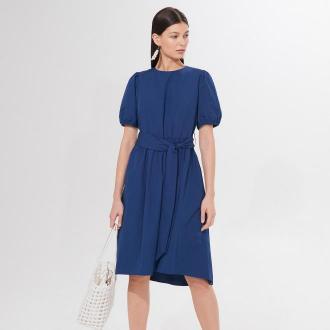 Mohito - Sukienka z bufiastymi rękawami - Niebieski