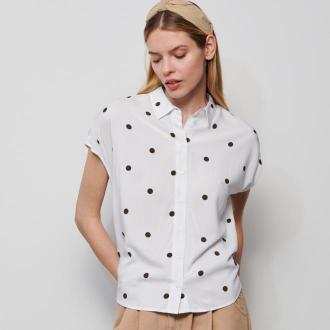 Reserved - Wzorzysta koszula z EcoVero™ - Biały