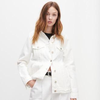 Reserved - Kurtka jeansowa - Biały