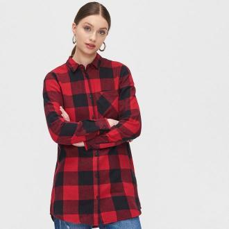 Cropp - Koszula w kratę - Czerwony