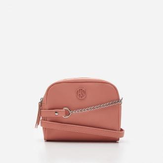 House - Jednokomorowa torebka z łańcuszkiem - Różowy