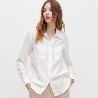 Reserved - Koszula z ekologicznej tkaniny - Kremowy