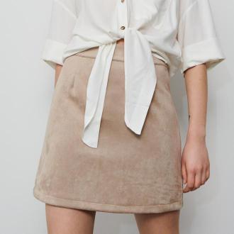 Reserved - Spódnica mini - Beżowy