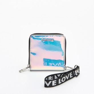 Cropp - Holograficzny portfel z brelokiem - Wielobarwny