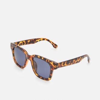 Cropp - Okulary przeciwsłoneczne z barwioną oprawką - Czarny