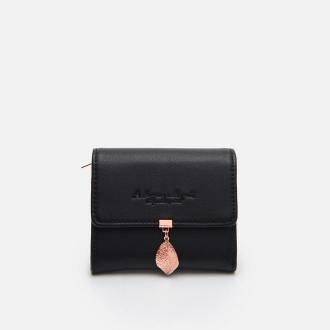 Cropp - Mały portfel z ozdobnym detalem - Czarny