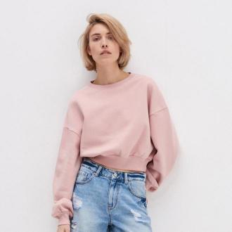 House - Krótka bluza basic - Różowy